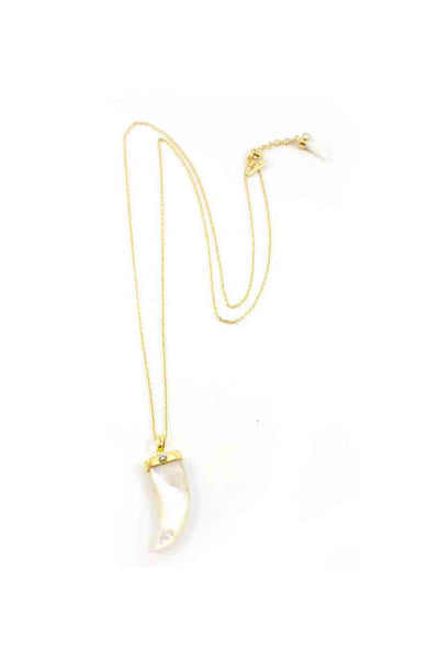 Indah Collection Double Tooth Necklace