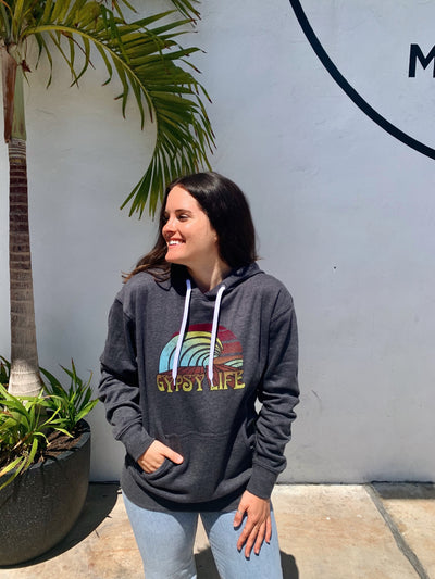 Gypsy Life Surf Shop - Marydel Hermosa Hood - Heather Black