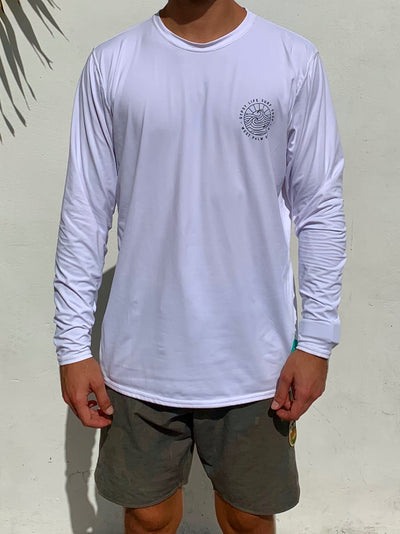 Gypsy Life Surf Shop - OG Logo - L/S Sun Shirt - White