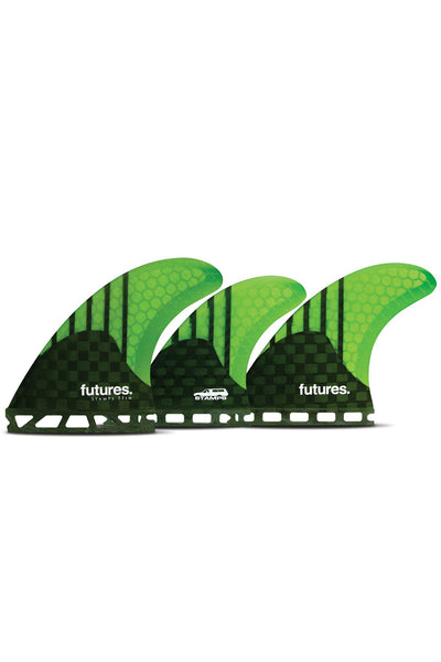 Stamps 5-Fin Futures - Carbon/Neon Green Generation 7.4