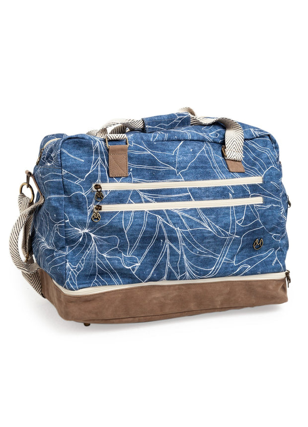 Maaji Denim Flowers Canvas Weekender Bag