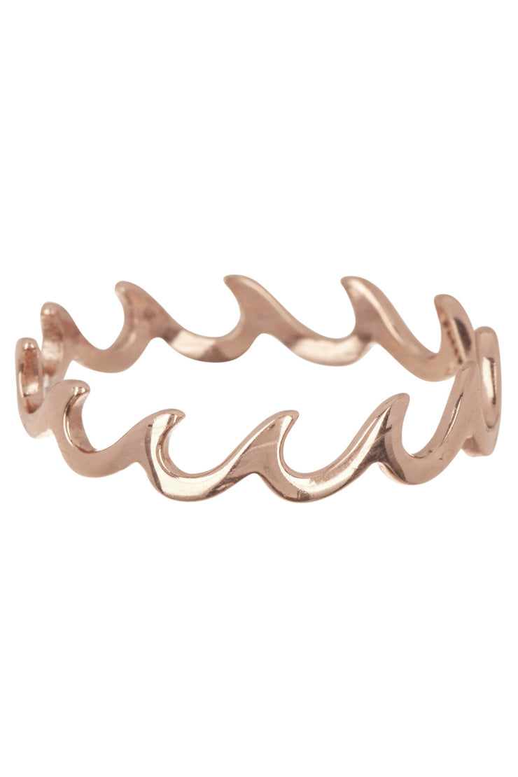 Wave Band Ring - Rose Gold