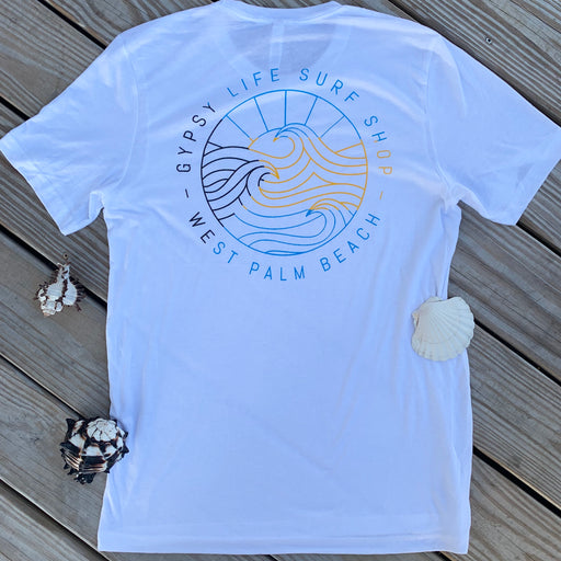 Gypsy Life Surf Shop - OG Bahamas Strong - Men's Short-Sleeved Tee - White