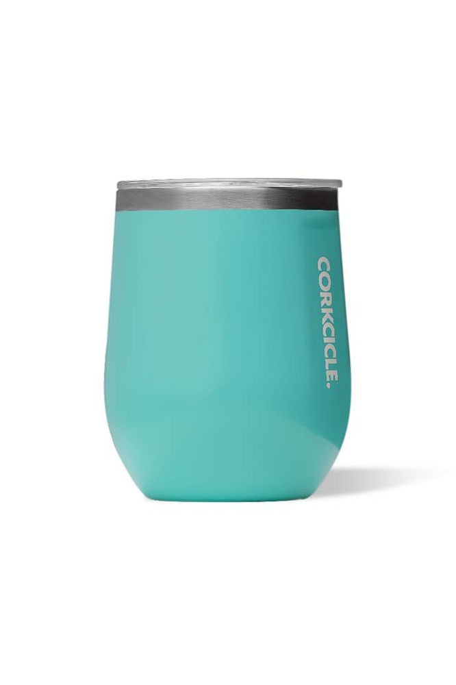 Stemless - 12oz Gloss Turquoise