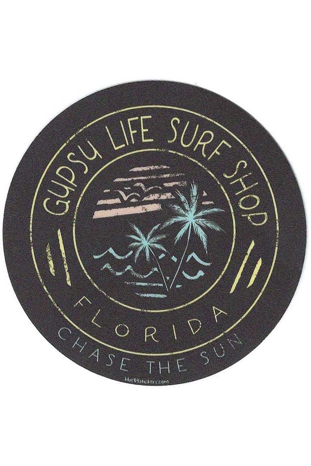 Gypsy Life Surf Shop Sticker - Caius Palms