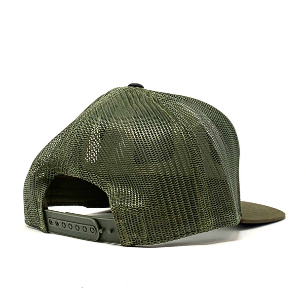 Gypsy Life Surf Shop Hat - Black/Camo/Loden
