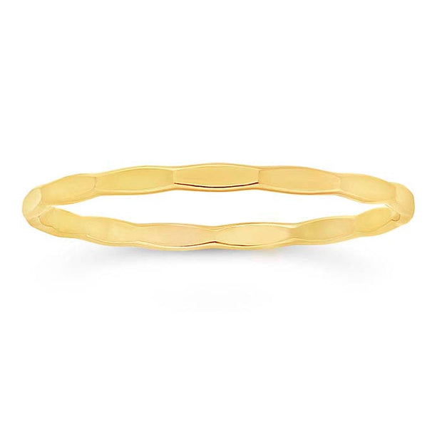 Gypsy Life 14k Yellow Gold-Filled Faceted Stackable Ring