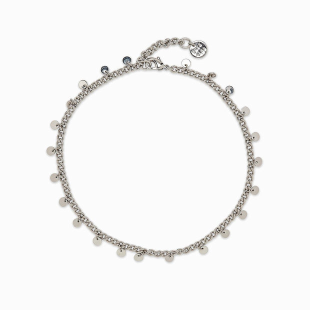 Mini Coin Anklet - Silver