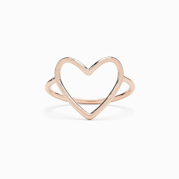 Statement Heart Ring - Rose Gold