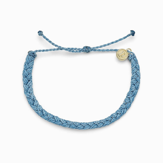 Solid Braided Bracelet - Sky Blue