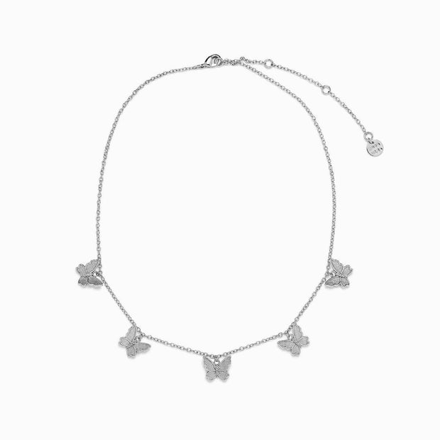 Butterfly in Flight Choker - Silver