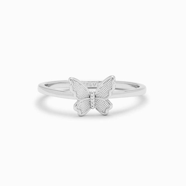 Butterfly in Flight Ring - Silver