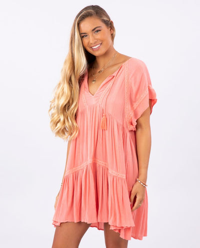 Sweet Mornings Dress - Dusty Rose