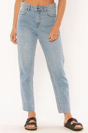Watch Me Go Denim Pant - Blue Wash