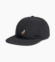 Dog and Duck Strap Patch Hat - Black