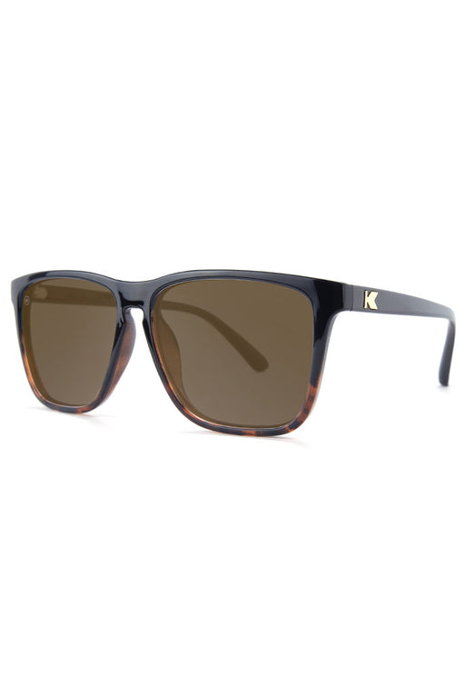 5a7b75ec94012 Glossy Black and Tortoise Shell Fade - Amber - Fast Lanes - Polarized