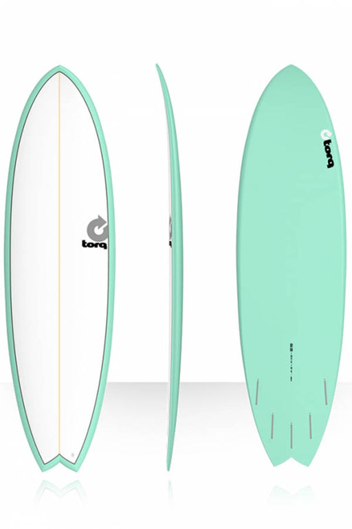 "6'3"" Fish Pinline Seagreen with White Deck"