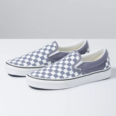 UA Classic Slip-On Checkerboad - Blue Granite/True White