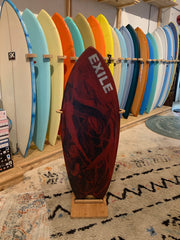 Exile Skimboard - Blairacuda Pro Model Double Carbon Fiber Epoxy - Red and Black Design - Large