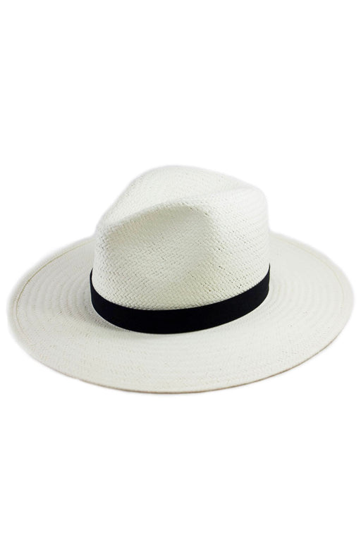 San Sebastian - Travel Straw Fedora Hat - White