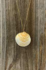 Gypsy Life Shell Necklace - Cream and Light Brown