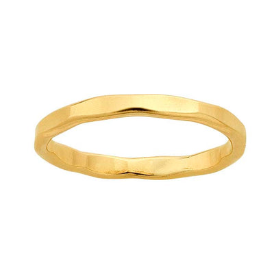 Gypsy Life 14k Yellow Gold-Filled Hammered Flat Wire Stackable Ring
