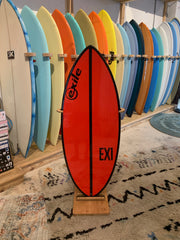 Exile Skimboard - Large EX1 - Red with Black Stripe