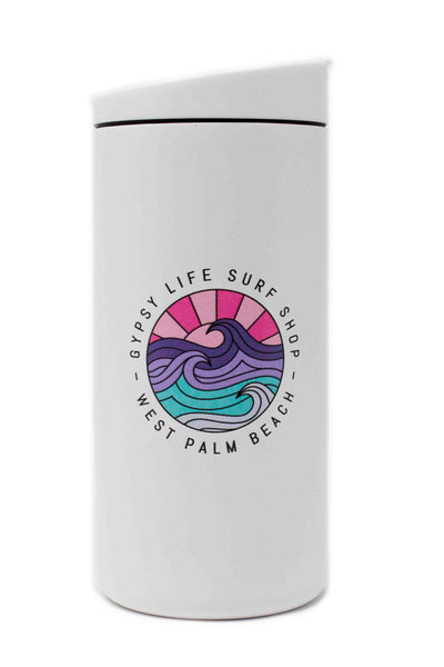 12oz Travel Tumbler - White with Purple/Pink Gypsy Life OG Logo
