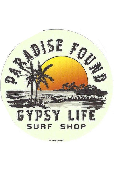 Gypsy Life Surf Shop Sticker - Lectric Razor Beach