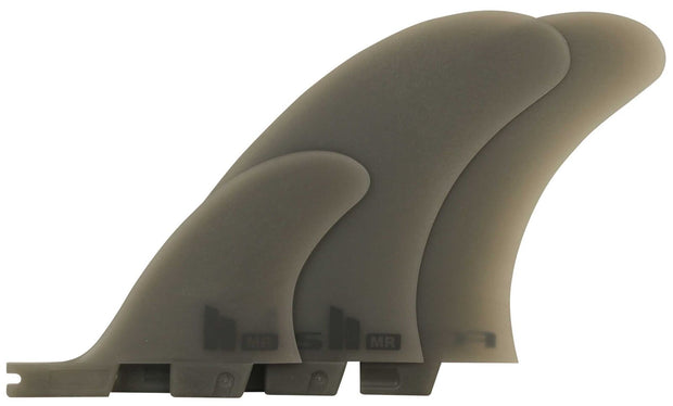 FCS II MR Neo Glass XL Tri Fins (Twin and Stabilizer) - Smoke