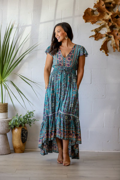Pacific Breeze Dress - Sage Garden