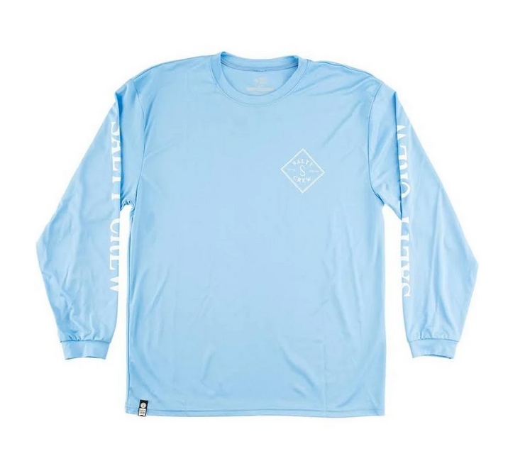Tippet LS Tech Tee - Columbia Blue