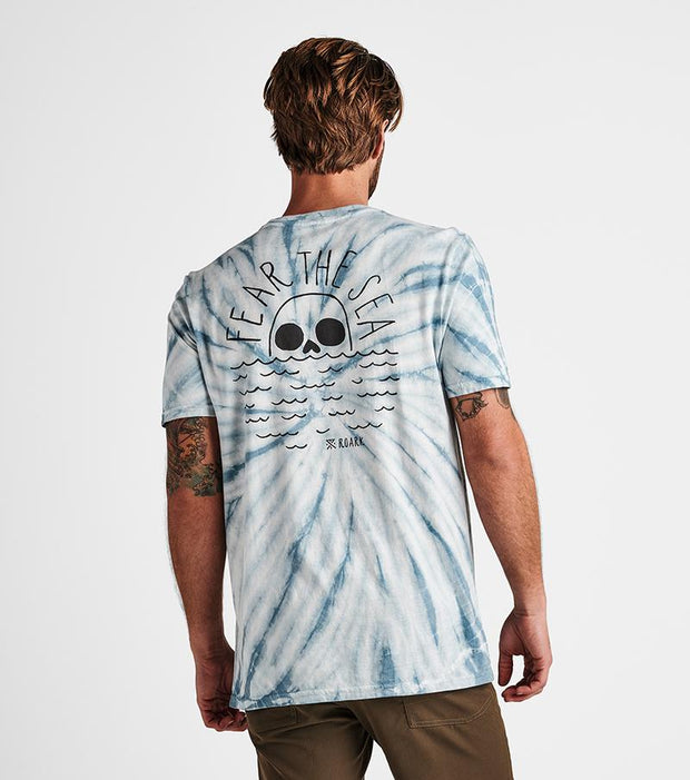 Fear the Sea Tie Dye - Dusty Blue