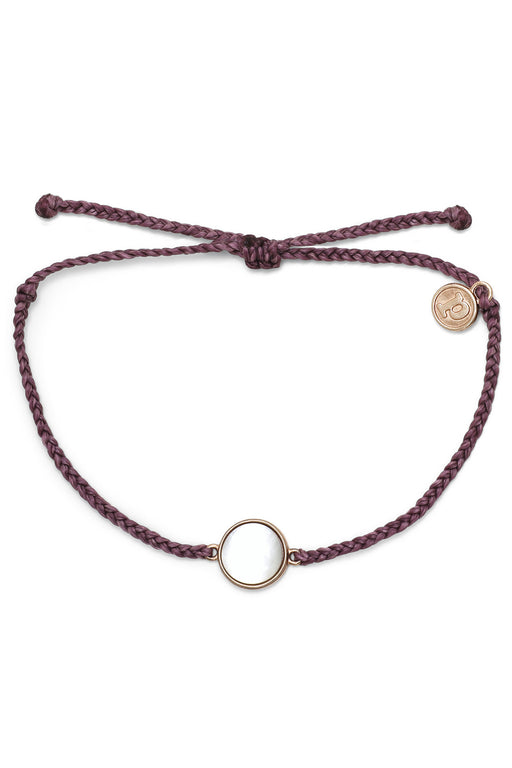Mother of Pearl Bracelet Rose Gold - Dark Lilac