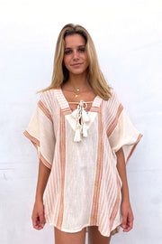 Baja Stripe Cover Up - Bone