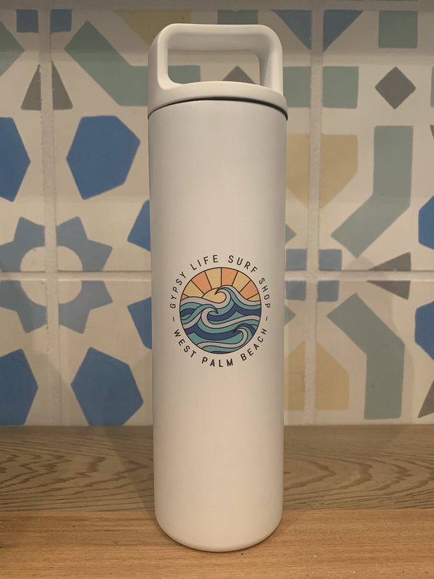 20oz Bottle - White with Blue/Orange Gypsy Life OG Logo