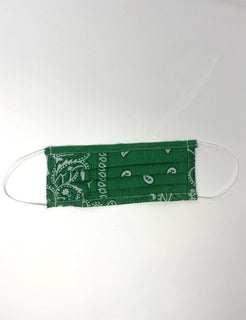 Green Bandana Face Mask