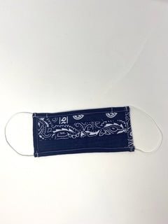 Navy Blue Bandana Face Mask