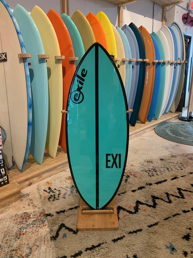 Exile Skimboard - Small EX1- Teal with Black Stripe
