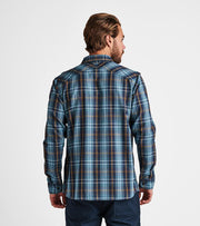 Pinnacles Flannel - Marine Blue