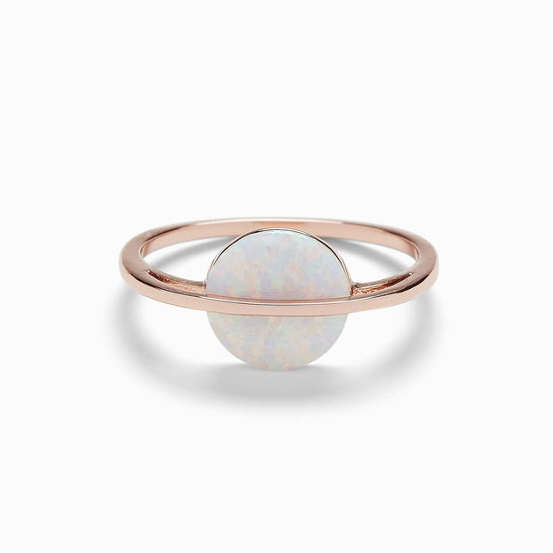 Opal Saturn Ring - Rose Gold