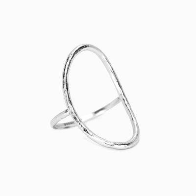 Oval Open Ring - Silver