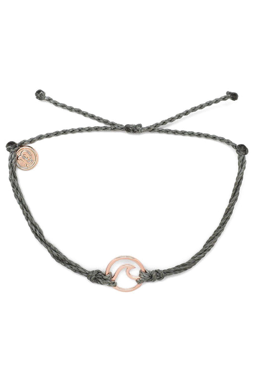 Rose Gold Wave Bracelet - Grey