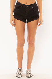 Crossroads Denim Shorts - Washed Black