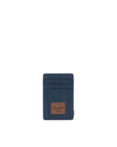 Raven Wallet - Indigo Denim Crosshatch/Saddle Brown