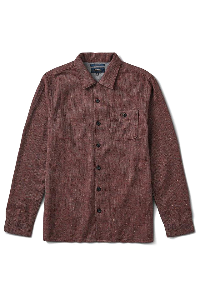 Wild Camp Button Up Shirt - Burgundy