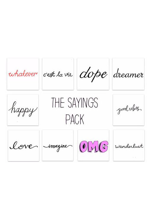 Sayings Pack