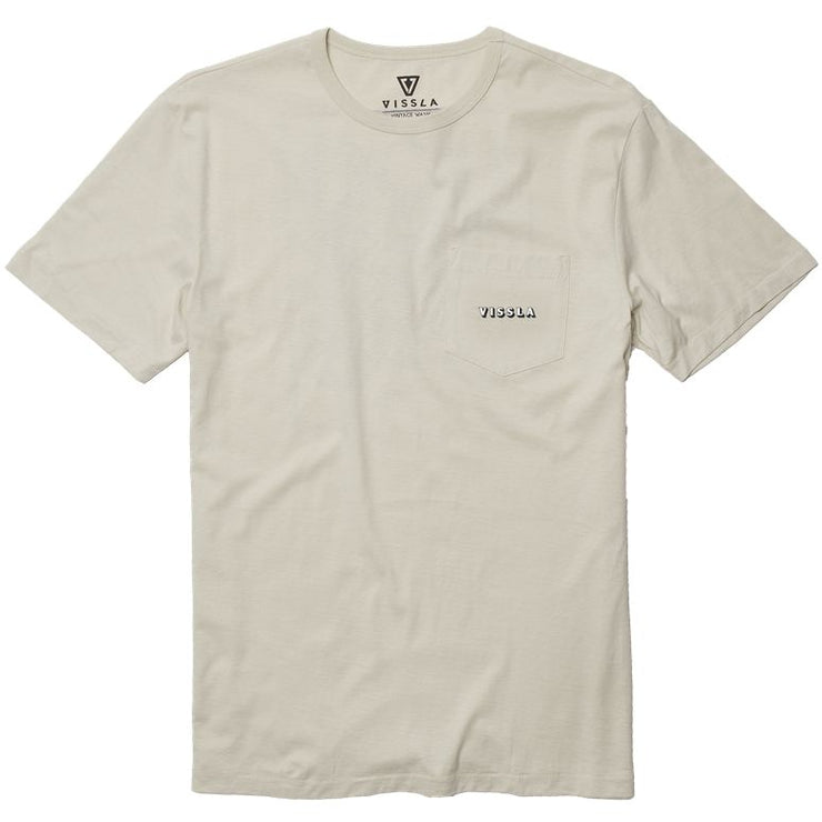 Far Out Vintage Wash Pocket Tee - Bone