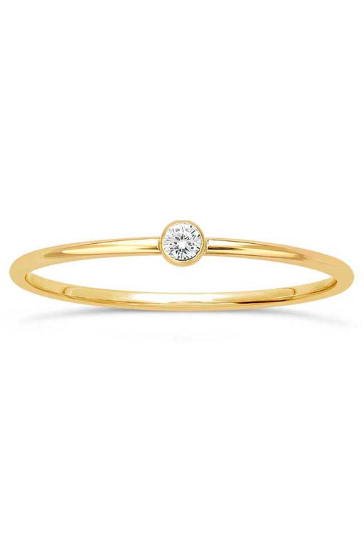 Gypsy Life White Cubic Zirconia Stacking Ring - Yellow Gold-Filled