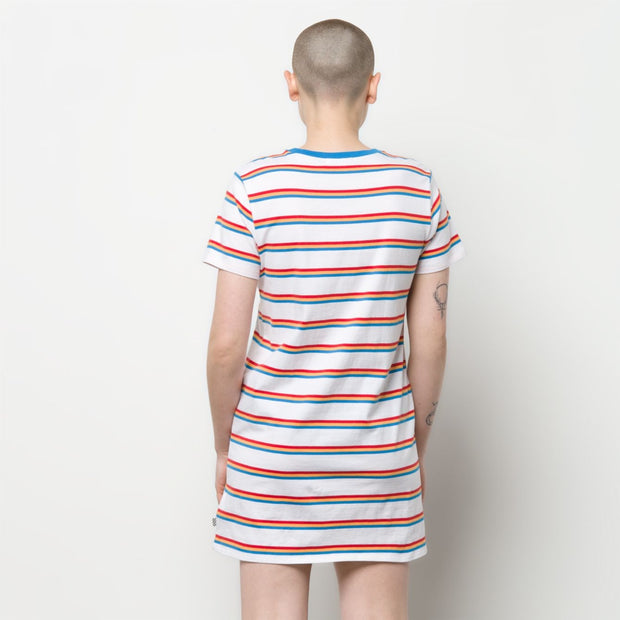 Long Way Tee Dress - White